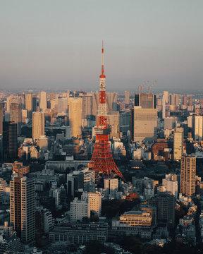 Tokyo Tower Japan Aerial Skyline View