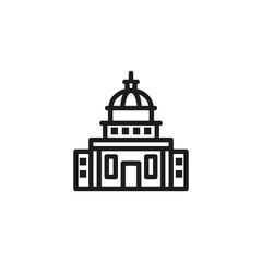 Government building line icon. Building, administration, executive. Government concept. Vector illustration can be used for topics like public services, politics, executive