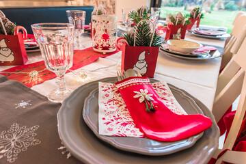 Fototapeta świąteczny stół wigilijnby pięknie nakryty obraz