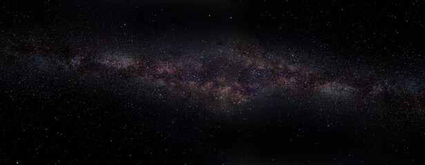 Fotorolgordijn Heelal panoramic view of the universe in space from the Milky Way galaxy