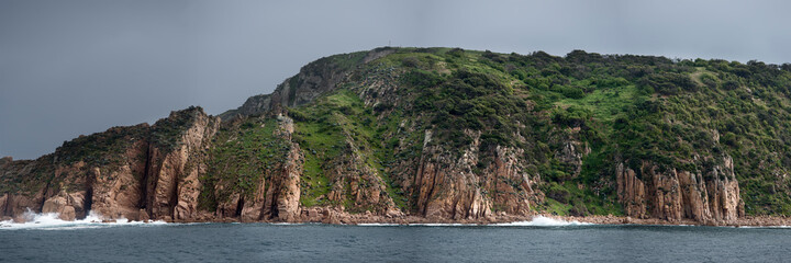 View of Phillip Island from a boat cruise around the island