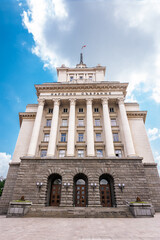 Palace of the Bulgarian National Assembly in Sofia on a normal day