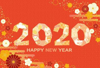 年賀状 年賀2020 ネズミ年 子年 令和2年