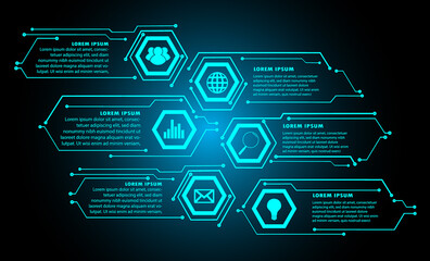 text box, internet of things cyber technology, security Wall mural