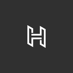 H letter logo vector icon template