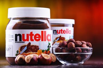 Jars of Nutella spread