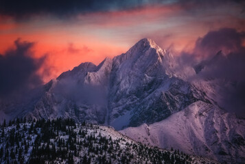 Winter in Tatra Mountains in Poland Zakopane