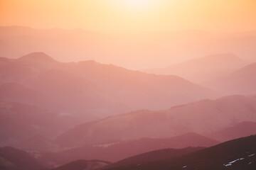 Fototapete - Scenic image of grand ridges at twilight.