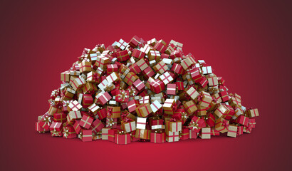 A Huge pile of Christmas Gifts - High Resolution Render