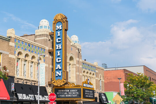 Historic Michigan Theater, built in 1928, located on East Liberty St in Downtown, Ann Arbor