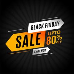 black friday sale arrow style modern background