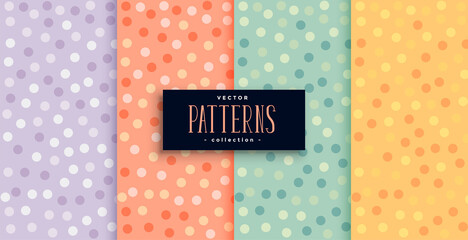 beautiful circles patterns set in many colors