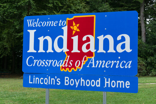 Welcome to Indiana Sign at the Indiana state border
