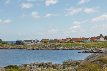Small village of Svaneke on Bornholm island in Denmark