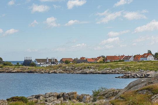 Small village of Svaneke on Bornholm island in Denmark