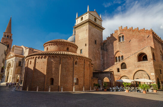 View of the Rotonda San Lorenzo in Mantua ancient and religious building in a city of tourism and travel