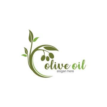 Olive Oil Logo template vector icon design