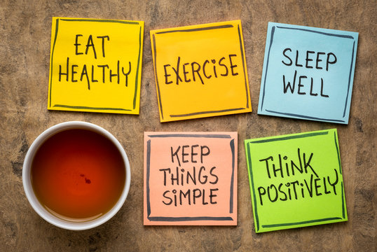 healthy lifestyle and wellbeing concept