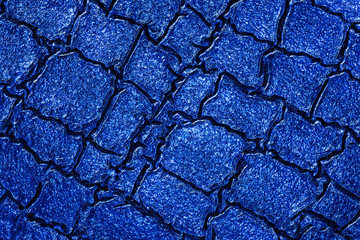 Wall Mural - Texture of blue artificial crocodile skin, as background. Wet crocodile skin.