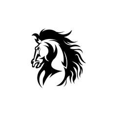 horse head ,abstract, illustration, logo, symbol, sport, team, mascot, head, emblem, animal, wild