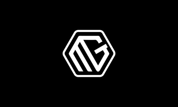 MG, GM letters logo design template