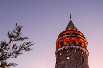 Galata tower, historical touristic place in Istanbul