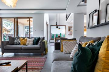 Modern interior design - livingroom Fototapete