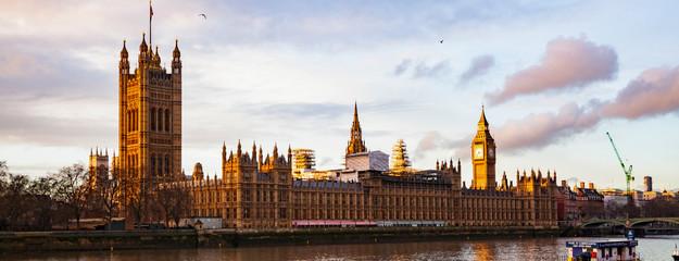 Garden Poster London big Ben and Houses of Parliament at sunset, London, UK