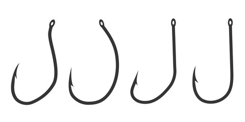 Fishing hook icon - vector.