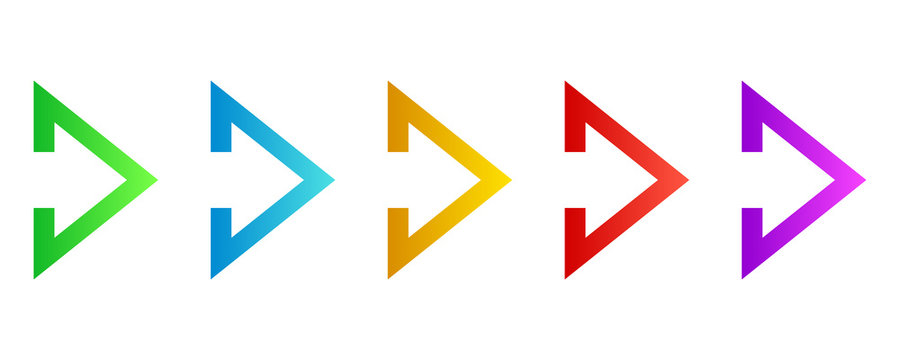 Colorful arrows - vector.