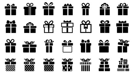 Gift set different icon sign - vector