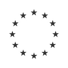 Vector Illustration of the EU flag stars.