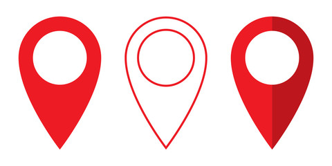 Set of vector Location symbol. Pin icon