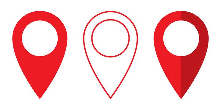 Set of vector Location symbol. Pin icon