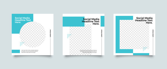 Fototapeta Modern promotion square web banner for social media post template. Elegant, minimalist sale and discount promo backgrounds for digital marketing