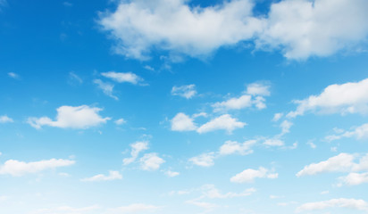 blue sky with white cloud landscape background