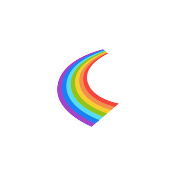 Rainbow graphic design template vector isolated