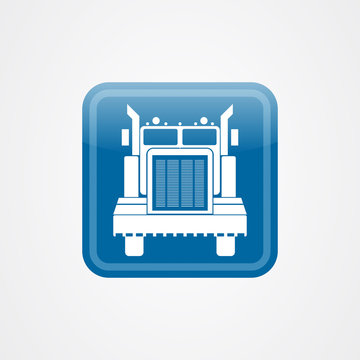 Big truck icon logo vector design template