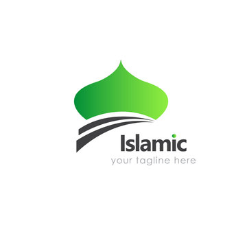Mosque logo, islamic logo. Great for a moslem community organizations and also good for mosque, education, islamic center, islamic school, islamic business industry, etc.