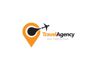 Travel agency logo, trip logo design. Vector illustration