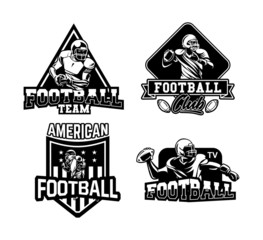 american football symbol, badge for team, club or competition