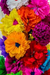 Colorful Mexican Paper Flowers Handicrafts San Antonio Texas