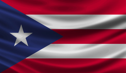 Puerto Rico wave Flag vector illustration