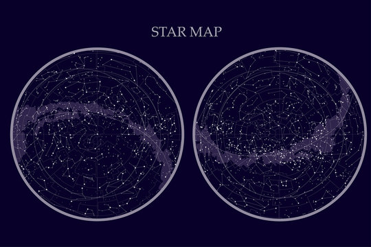 true constellations of the southern hemisphere and Northern hemisphere,