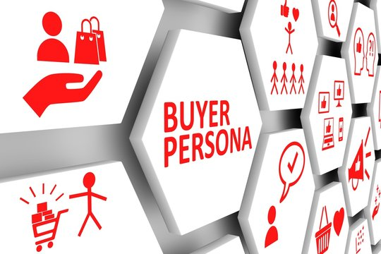 BUYER PERSONA concept cell background 3d illustration