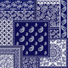 Collection oriental seamless paisley patterns
