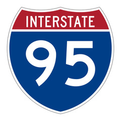 Interstate highway 95 road sign