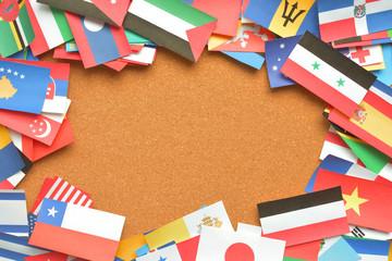 世界の国旗 背景素材