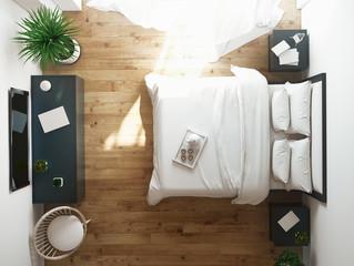 Interior of modern comfortable hotel room, 3d rendering
