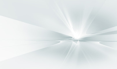 Fotorollo Fractal Wellen white futuristic background